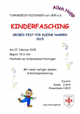 Plakat Kinderfasching 2015