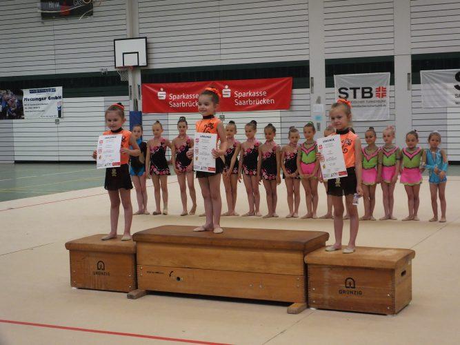 Gaukinderturnfest mit Sportgymnastinnen