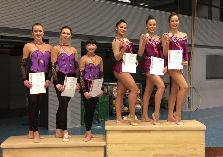 Landesmeisterschaft Gymnastik Kür-Übungen - 7x Gold, 3x Silber, 5x Bronze