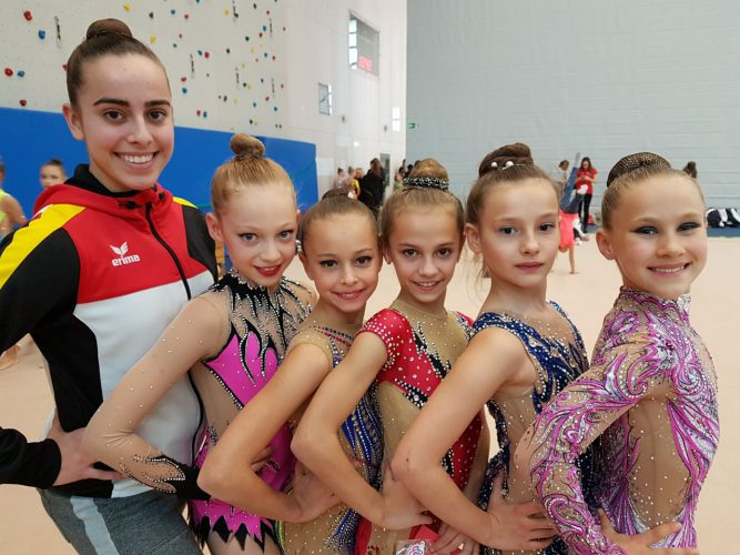 Saarländische Gymnastinnen in Berlin