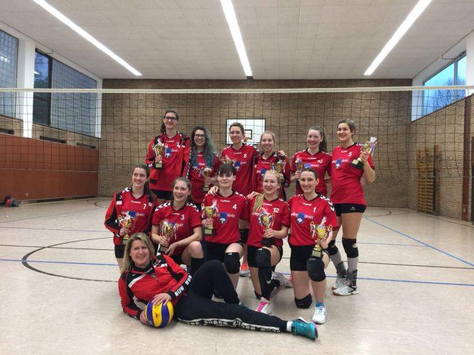 Erneuter Meisterschaftsgewinn Volleyball Damen Kreisklasse 1