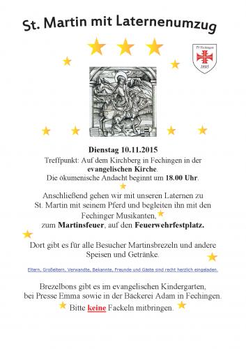 Einladung zur St.-Martins-Feier mit Laternenumzug