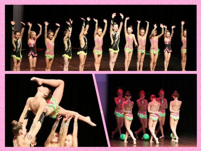 Gymnastinnen tanzen für guten Zweck